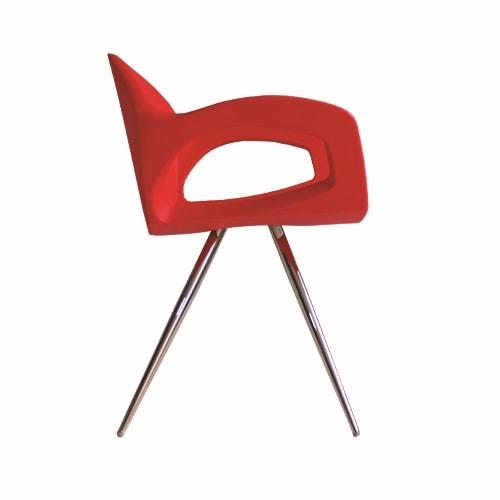 Pepper Spider, Armchair with polyethylene shell
