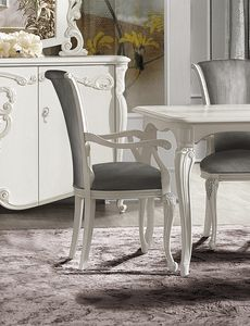 Puccini Art. 7611, Dining chair with armrests