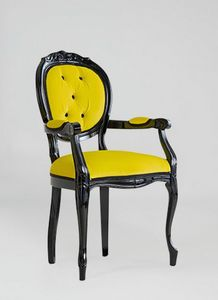S17P, Classic chair with armrests