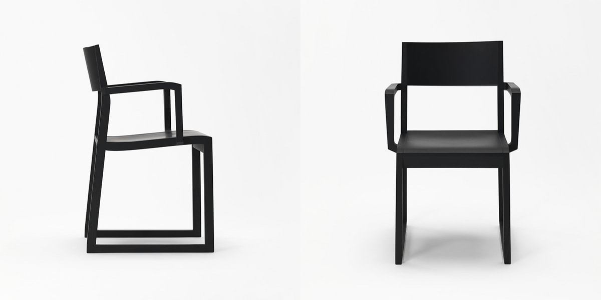 Sciza armchair, Solid wood chair, with armrests