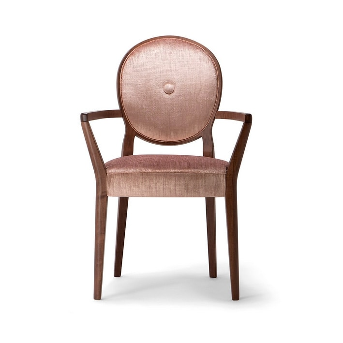 SOFIA ARMCHAIR 045 SB, Chair with armrests, with round backrest
