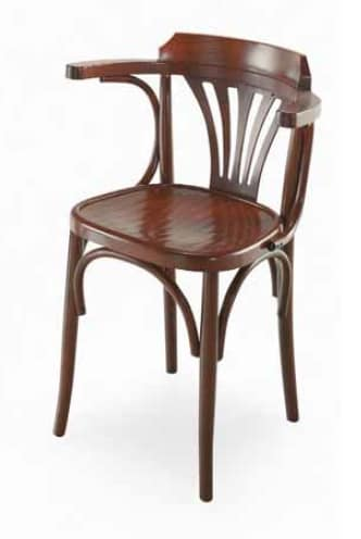Strauss-P, Wooden chair with armrests, Viennese style