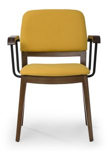 Tosca ARMS, Chair with rounded backrest