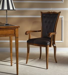 Voltaire chair with armrests, Dining chair with armests