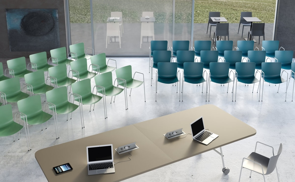 Zaza BR, Chair with armrests for classroom or conference