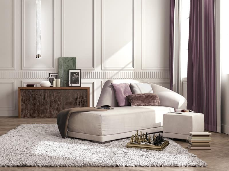 Bilbao chaise longue, Luxury chaise longue, contemporary classic style
