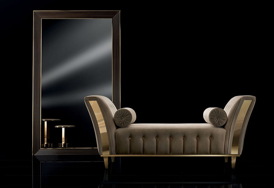DIAMANTE chaise longue, Padded chaise longue for sitting room