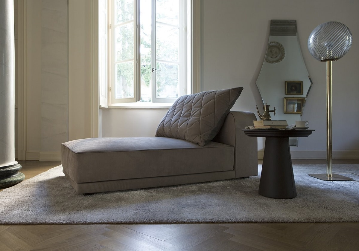 Gary, Fully upholstered chaise longue