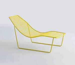 Link Chaise Longue, Metal chaise longue for garden