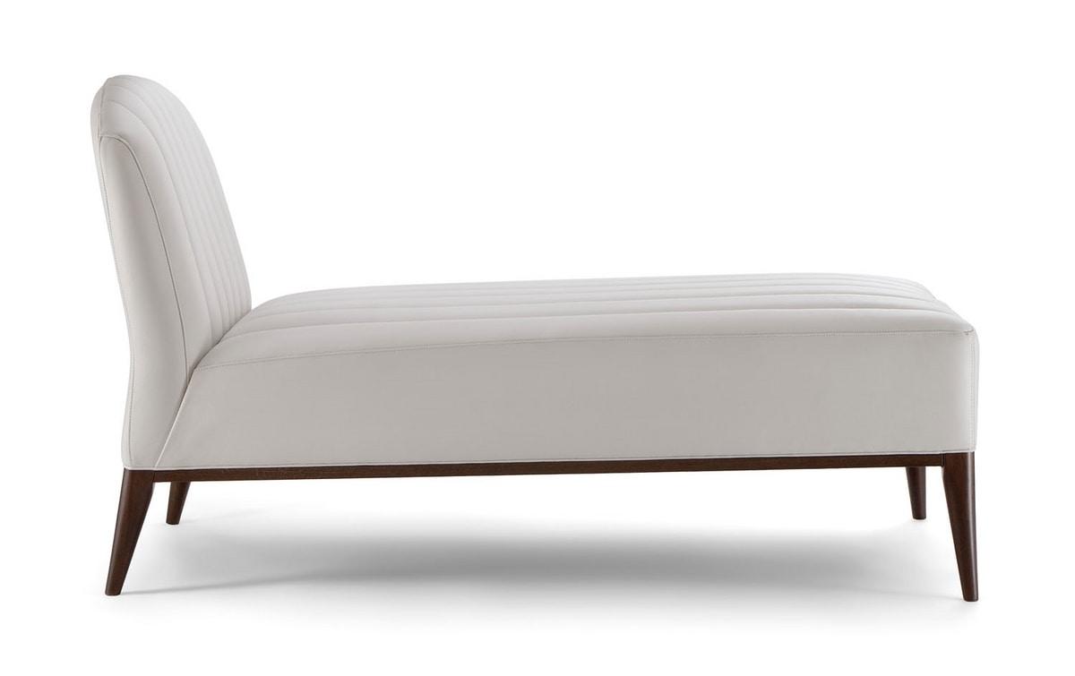 PARIGI CHAISE LOONGUE 038 CL, Elegant and refined chaise longue