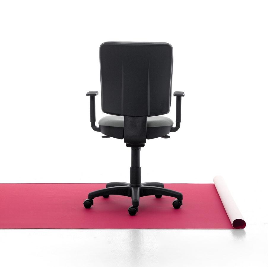 Eros 01 CP, Padded task chair, aluminum base, for office