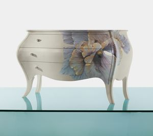 4130 Blubell, Chest of drawers with flower hand-painted decoration