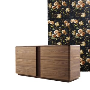 710301 York, Chest of drawers with decorative leather inserts