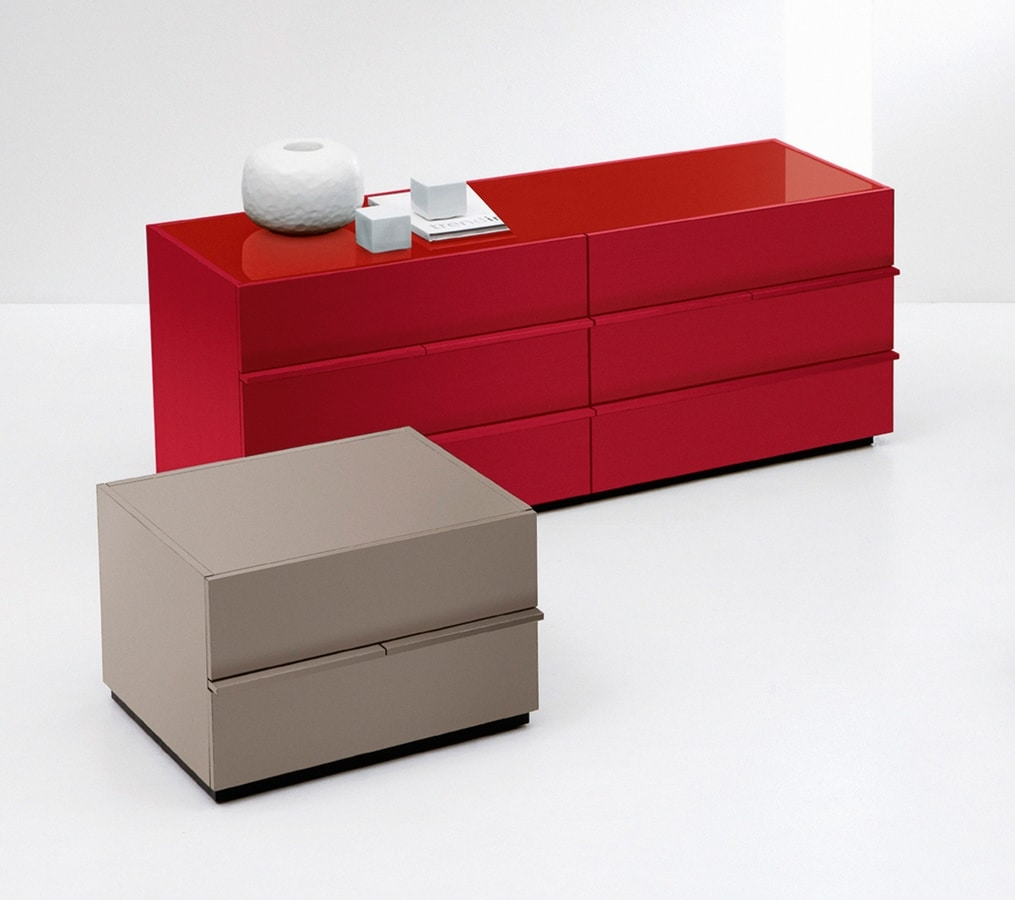 AKI chest of drawers, Modern dresser in minimalist style, for Bedroom