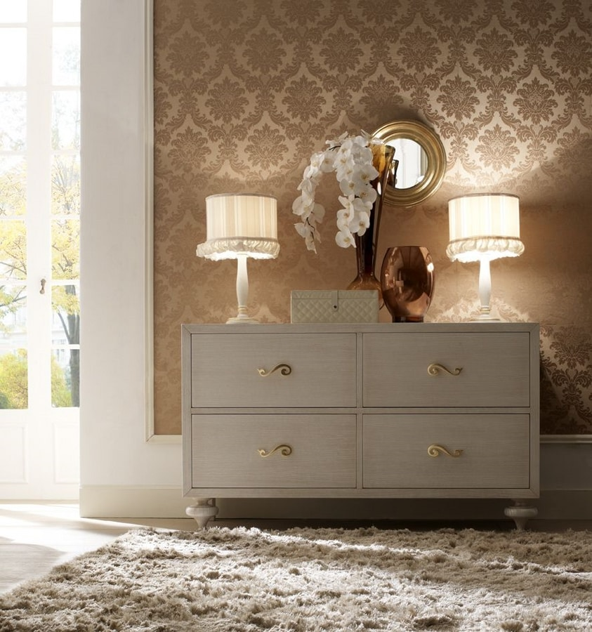 Allegra onion foot chest of drawers, Handcrafted chest of drawers