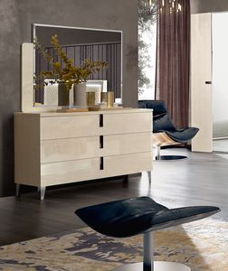 Ambra chest of drawers, Chest of drawers with shiny surfaces