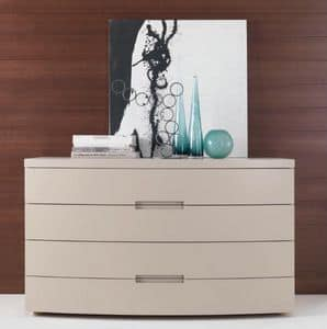 AMBRADUE chest of drawers, Chest of drawers, lacquered