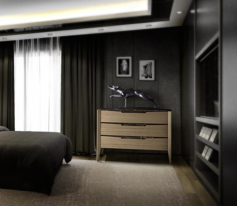 AN 732 M, Chest of drawers with marble top