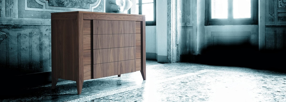 Anerio 1269/F, Chest of drawers in ash wood