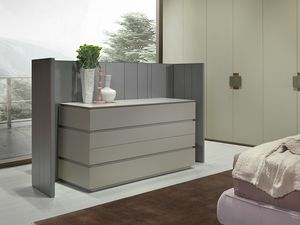 ARES chest of drawers comp.02, Dresser with a linear design