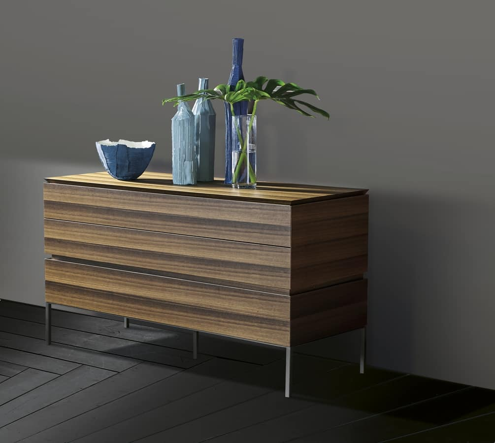 ARES chest of drawers comp.01, Elegant chest with three drawers