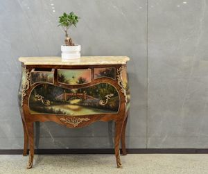 Art. 358, Chest of drawers with marble top and decorative painting