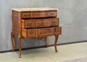 Art. 607, Classic dresser, with three drawers, at outlet price