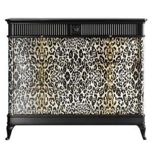 Art. CA777, Leopard chest of drawers, for original houses