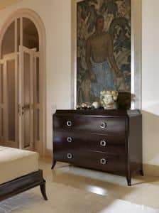 Art. VL720, Wooden chest of drawers for bedroom