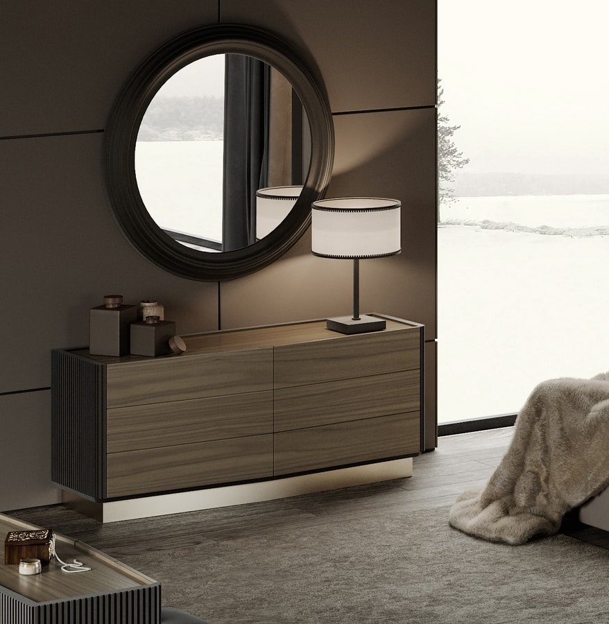 Beverly chest of drawers, Contemporary style chest of drawers