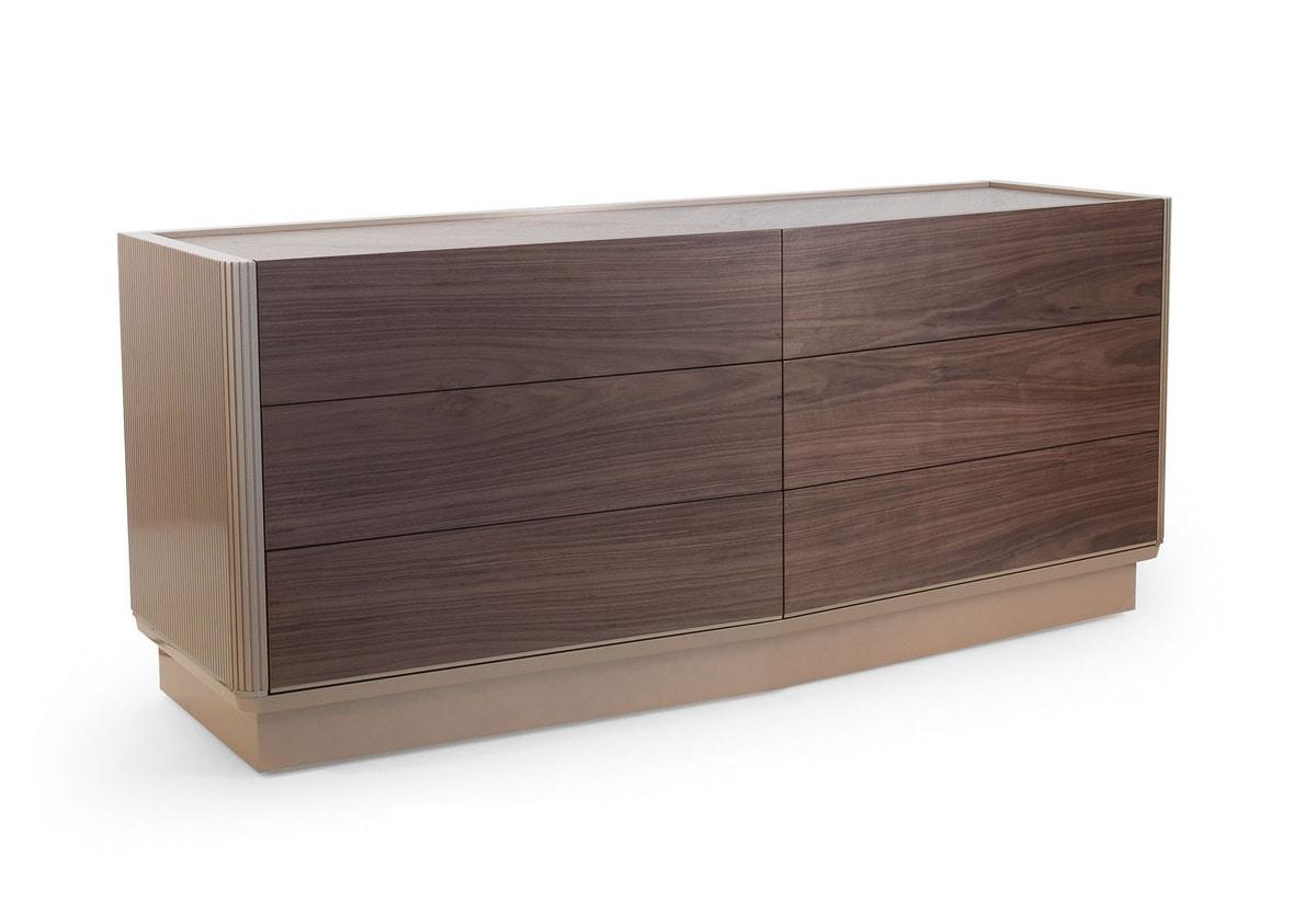 Bredy Art. 429, Chest of drawers in black walnut