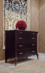 City Art. 5605, Chest of drawers in lacquered wood