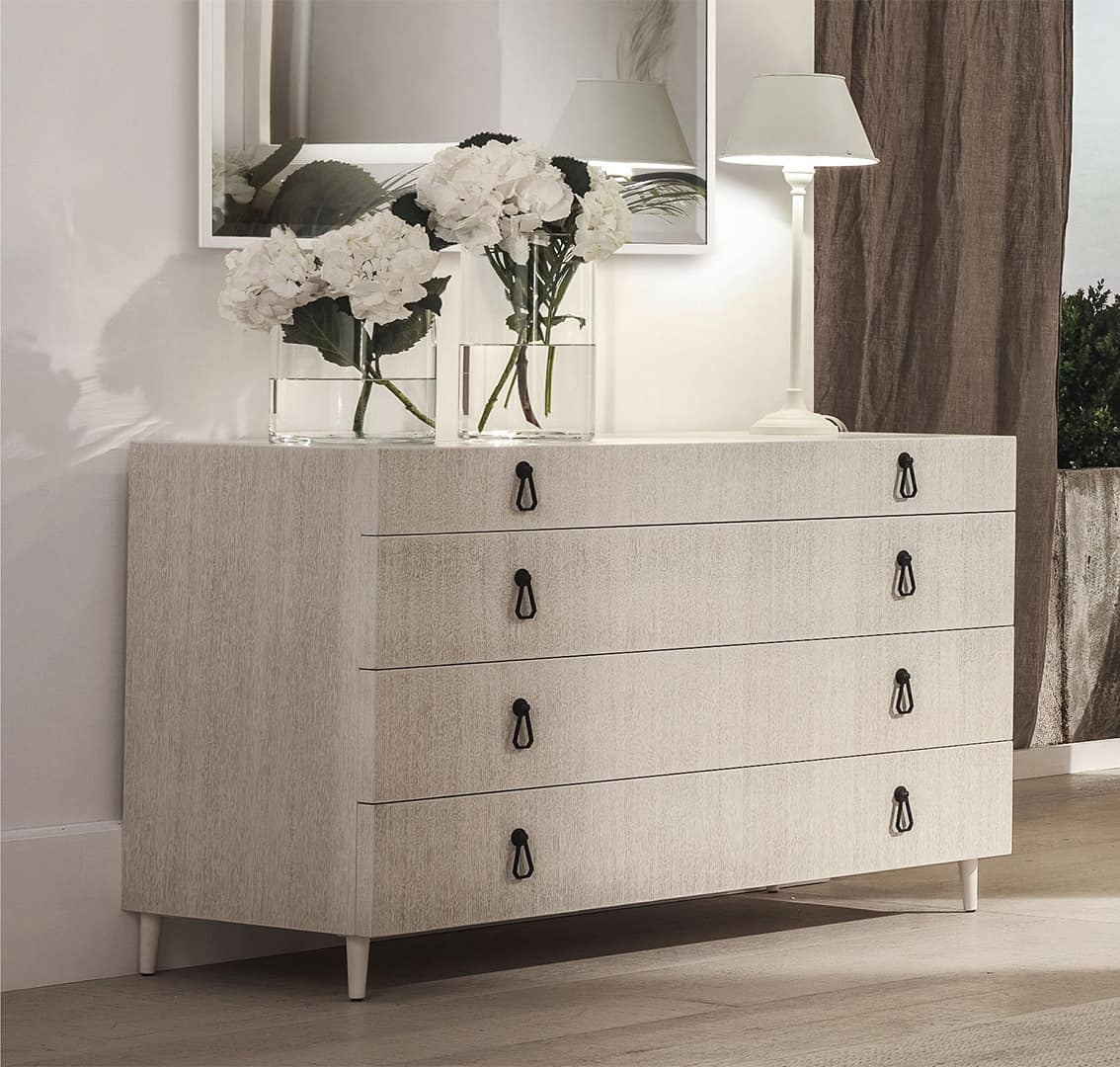 City comò, Dresser made of plywood, with metal feet tapered