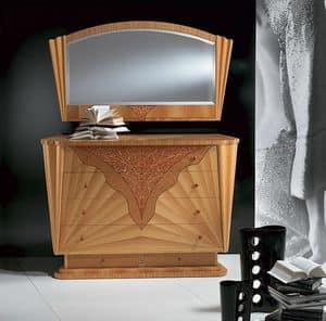 CO07 Fusion, Dresser chamber in inlaid walnut, knobs in Jasper