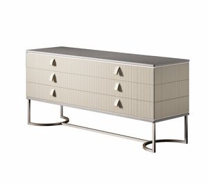 Cocoon Art. C312, Low chest of drawers with metal base