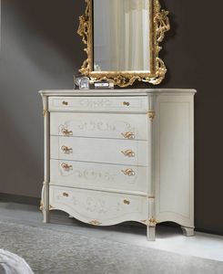 Diamante Art. 2105, Chest of drawers with gold decorations