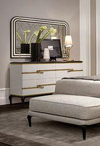 Dilan Art. D80, Elegant white lacquered dresser