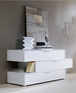 DOMINO, Chest of drawers with staggered drawers