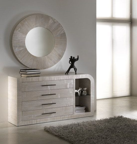 Dresser Kristal, Ethnic style dresser with drawers and compartments