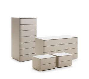 DUO chest of drawers, Lacquered chest of drawers