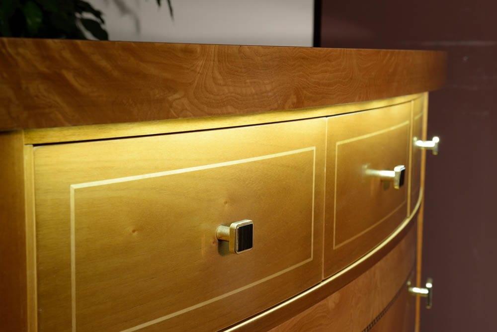 Elegant led chest of drawers, Dresser with led lighting