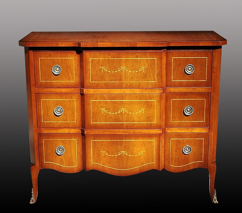 Ermanno FA.0064, Chest of drawers with 3 drawers, antique style