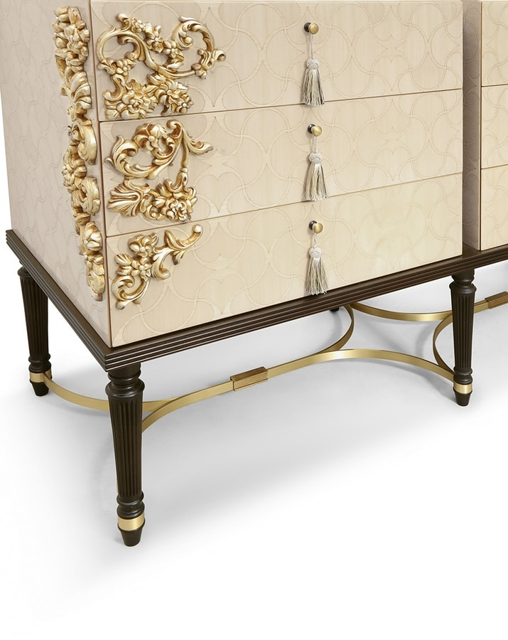 FLORA / double chest of drawers, Contemporary chest of drawers with an eclectic design