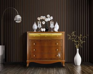 Harmony chest of drawers, Dresser with drawers with LED light