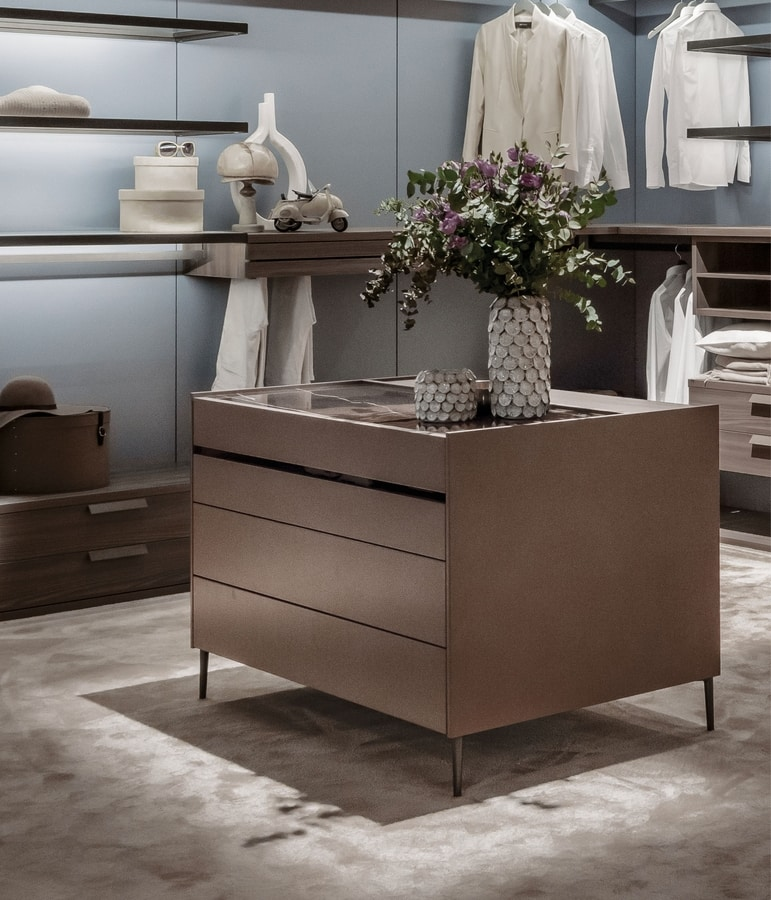 ISOLA, Drawer unit for walk-in closet