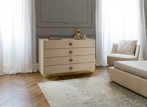 Jasmine, Chest of drawers with leather fronts