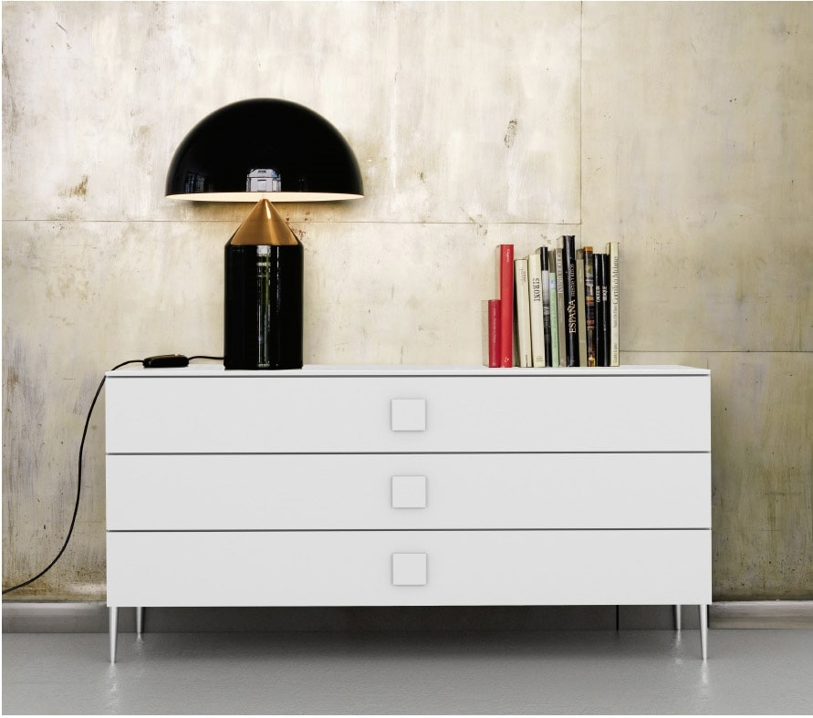 JOLLY chest of drawers, Chest of drawers in wood, with 3 drawers
