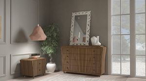 La Nuit chest of drawers, Chest of drawers in canaletto walnut