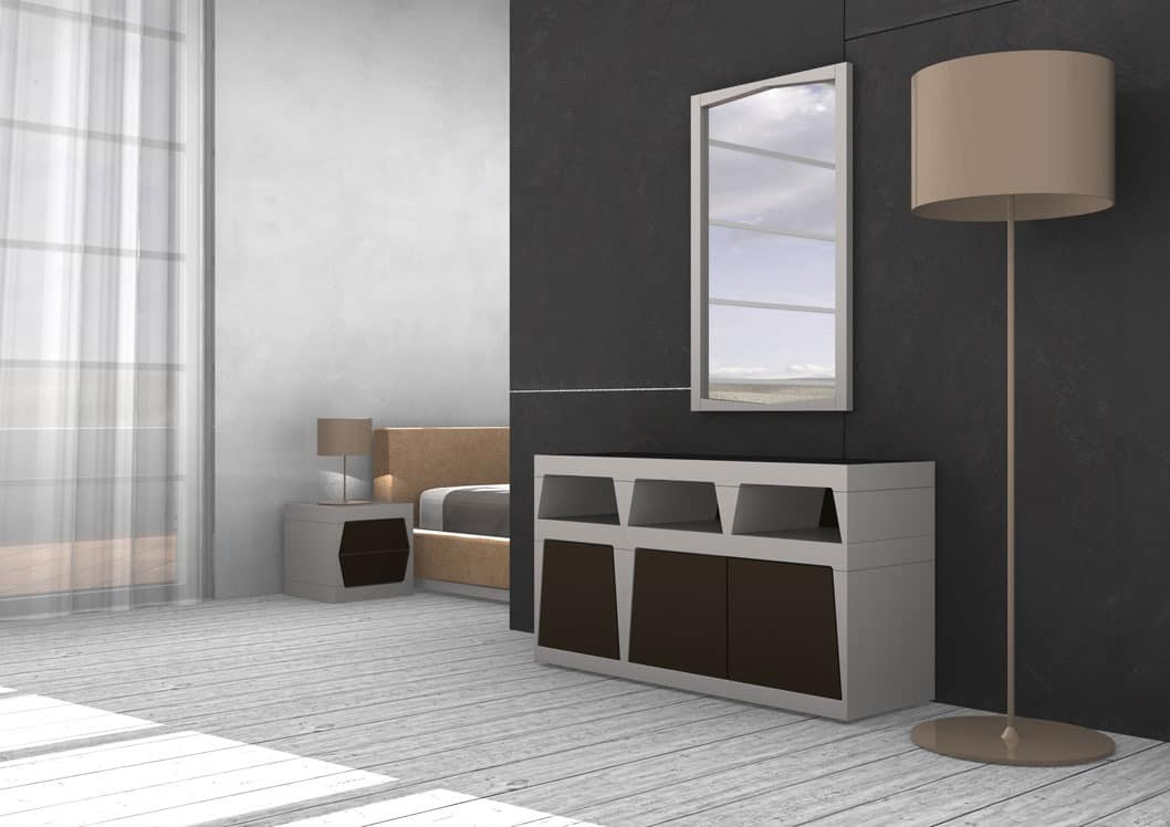 Light, Dresser in lacquered laminate, different dimensions and colors