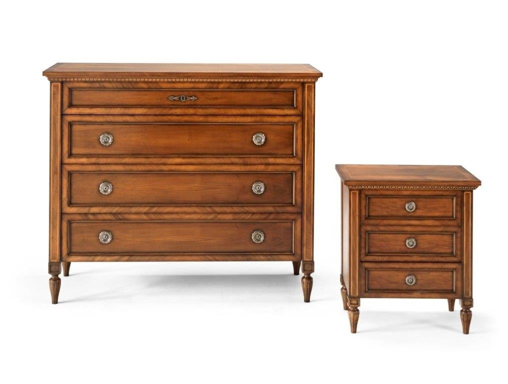 M 714 M 715, Chest of drawers and bedside tables in classic style